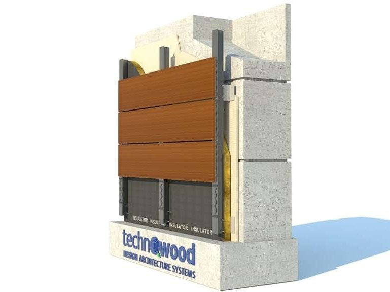 Facciata ventilata in alluminio TECHNOWOOD PANEL FAÇADE SYSTEM by TechnoWood