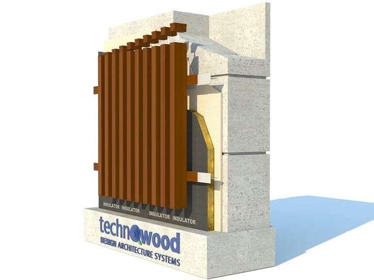 Aluminium Ventilated facade TECHNOWOOD PROFILE FAÇADE SYSTEM by TechnoWood