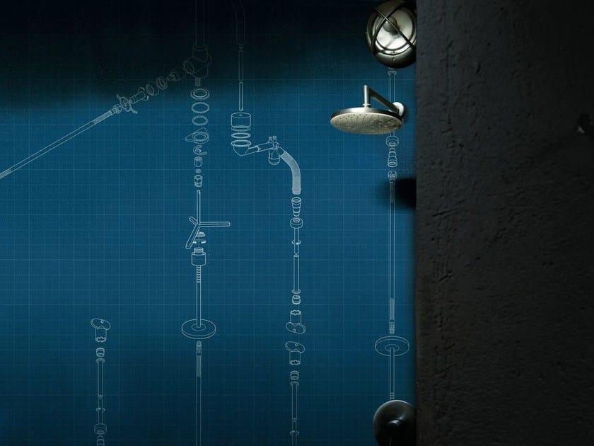 Motif wallpaper TECHTUBES by Wall&decò