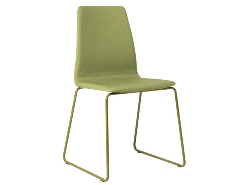 Sled base fabric chair with metal base TECLA SE01 BASE 20 by New Life
