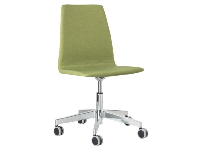 Fabric task chair with 5-Spoke aluminium base with castors TECLA SE01 BASE 23 by New Life
