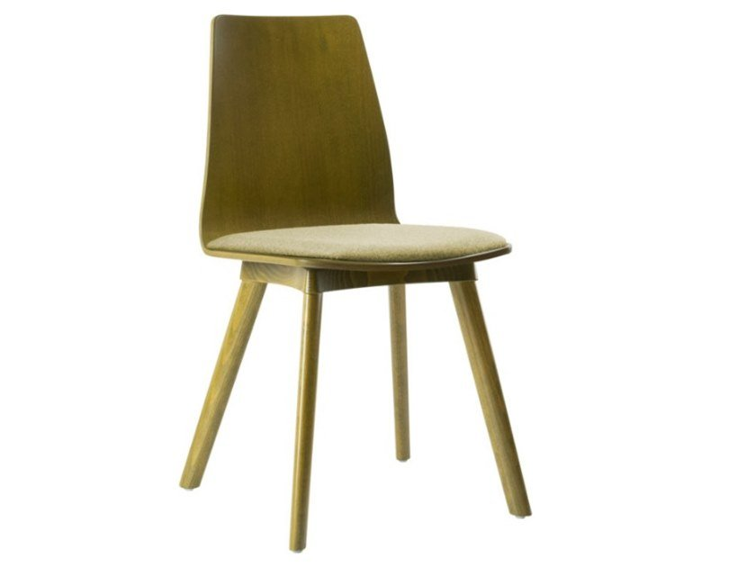 Multi-layer wood chair with integrated cushion TECLA SE03 BASE 10 by New Life