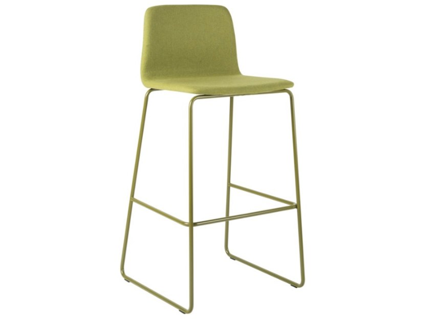 High sled base fabric stool with metal base TECLA SG01 BASE 20 by New Life