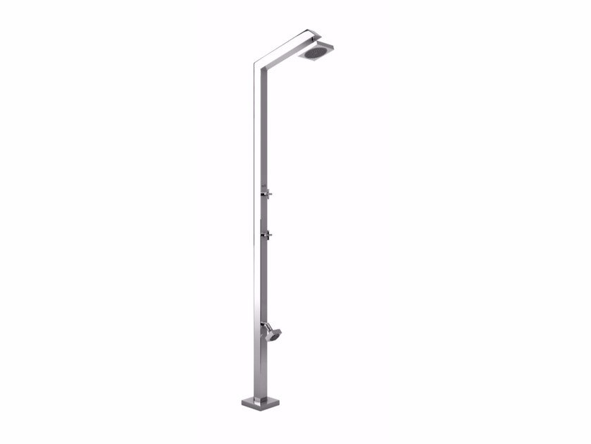 Stainless steel outdoor shower TECNO CUBE by Inoxstyle