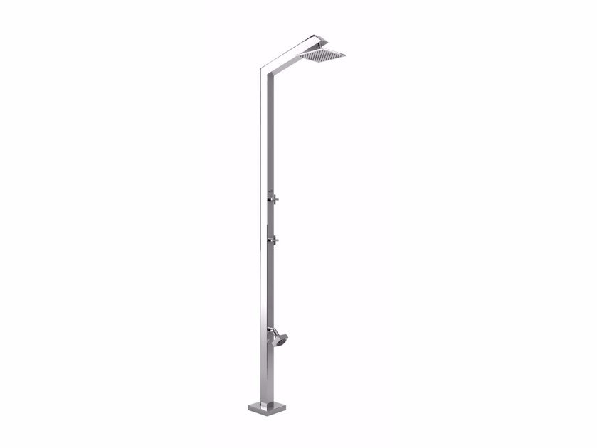 Stainless steel outdoor shower TECNO CUBE L STYLO by Inoxstyle