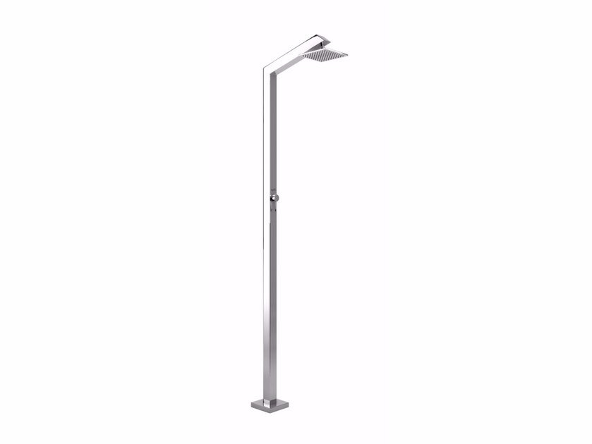 Stainless steel outdoor shower TECNO CUBE M STYLO by Inoxstyle