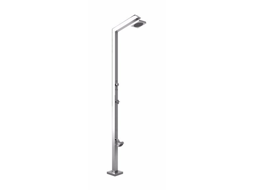 Stainless steel outdoor shower TECNO CUBE ML ZOE by Inoxstyle