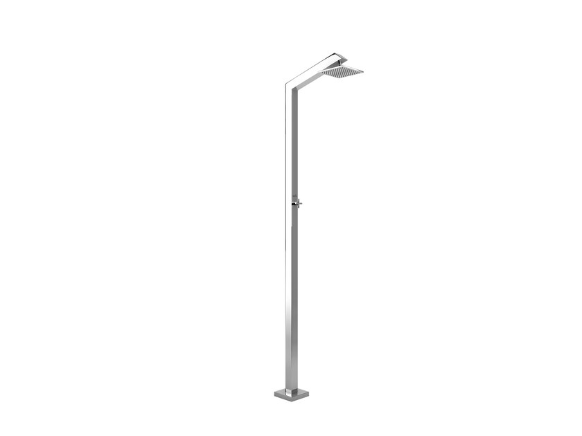 Stainless steel outdoor shower TECNO CUBE S STYLO by Inoxstyle