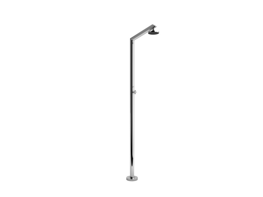 Stainless steel outdoor shower TECNO by Inoxstyle