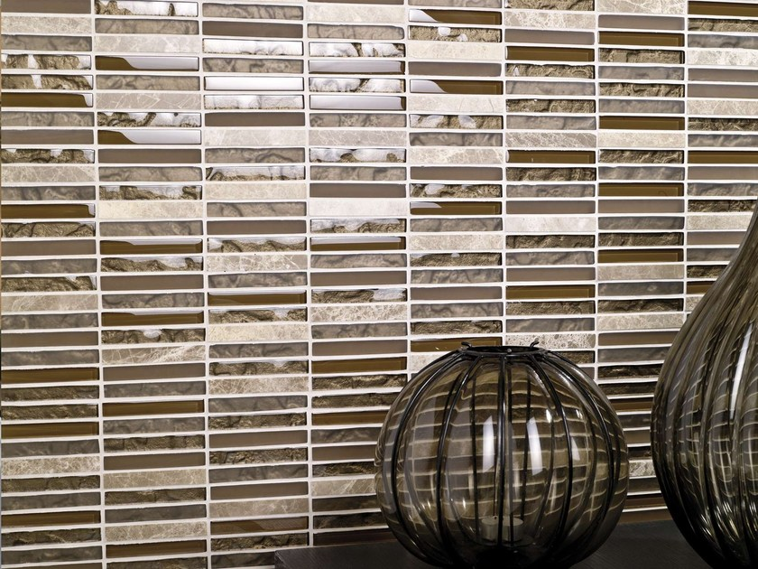 Natural stone, ceramic and glass mosaic TECNO by L'ANTIC COLONIAL