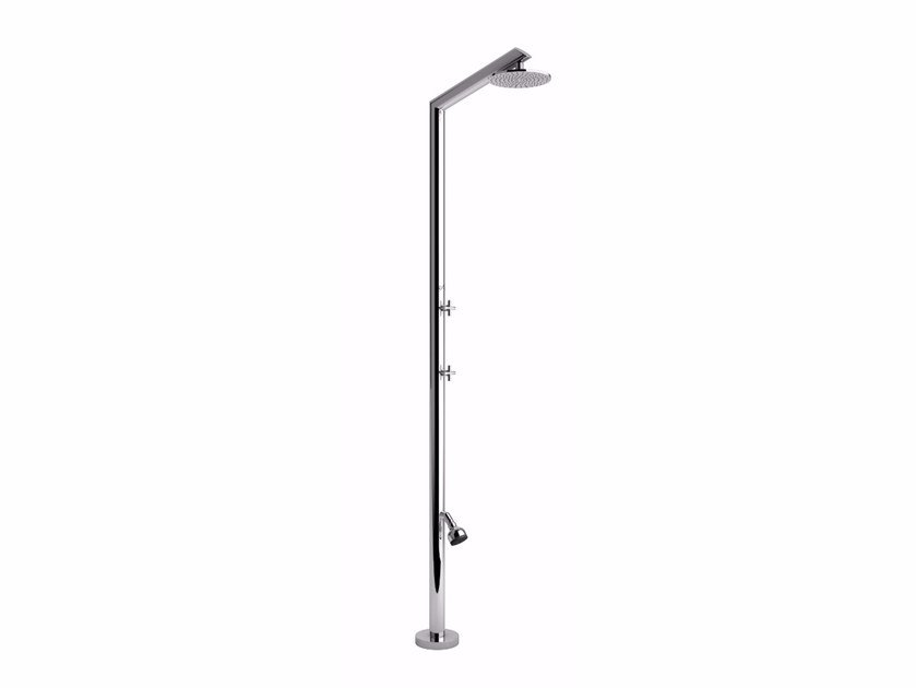 Stainless steel outdoor shower TECNO L BEAUTY by Inoxstyle
