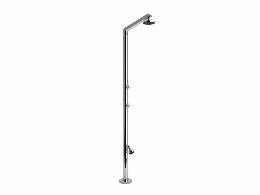 Stainless steel outdoor shower TECNO L by Inoxstyle