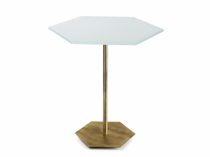 Crystal living room table TED | Glass table by MARIONI