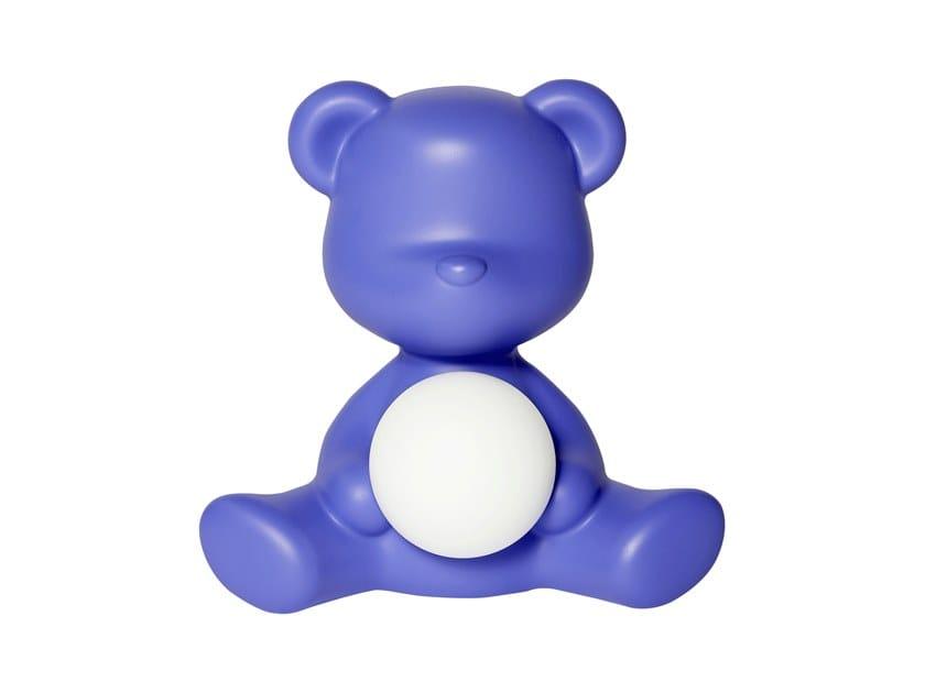 Lámpara de mesa LED de polietileno con USB TEDDY GIRL | Lámpara de mesa con USB by Qeeboo