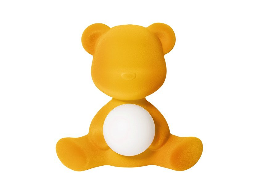 TEDDY GIRL VELVET | Table lamp with USB charging Teddy Collection By Qeeboo design Stefano Giovannoni