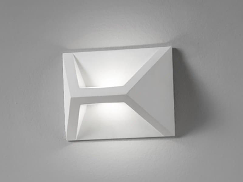 Led direct indirect light plaster wall light tegea by sforzin