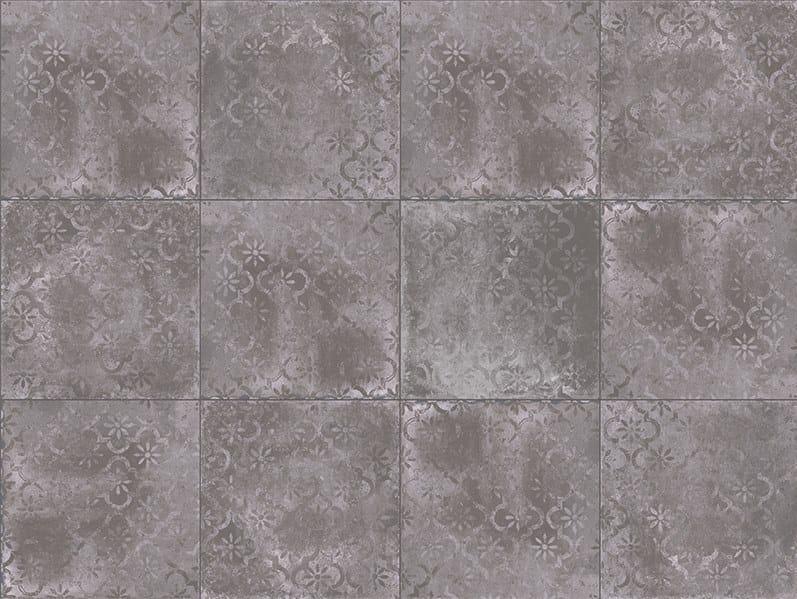 Porcelain stoneware outdoor floor tiles with stone effect TEGEL MOON DECORO by GRANULATI ZANDOBBIO