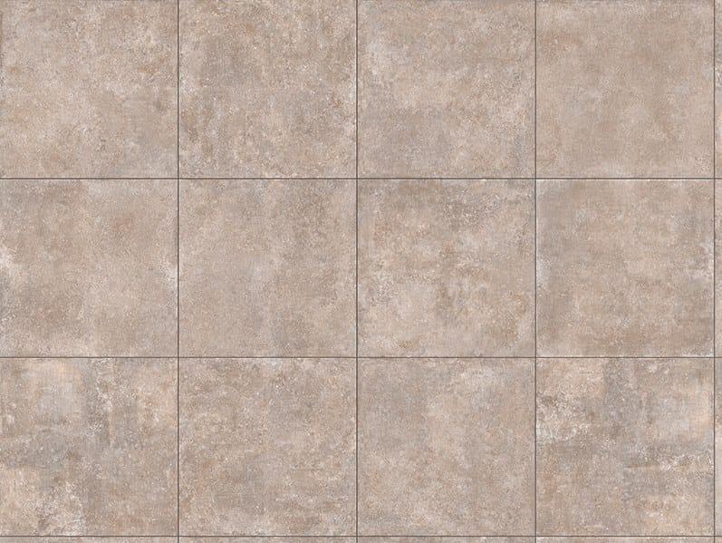 Porcelain stoneware outdoor floor tiles with stone effect TEGEL NOCCIOLA by GRANULATI ZANDOBBIO