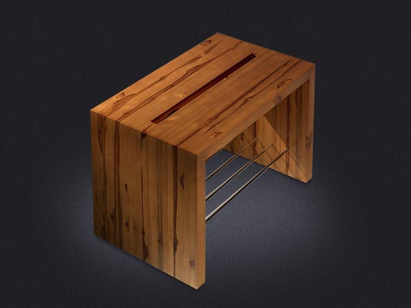 Sgabello per bagno in legno teka sgabello per bagno vallvé
