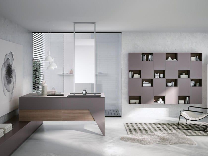 Mobile lavabo doppio con specchio TEKNO 02 by BMT