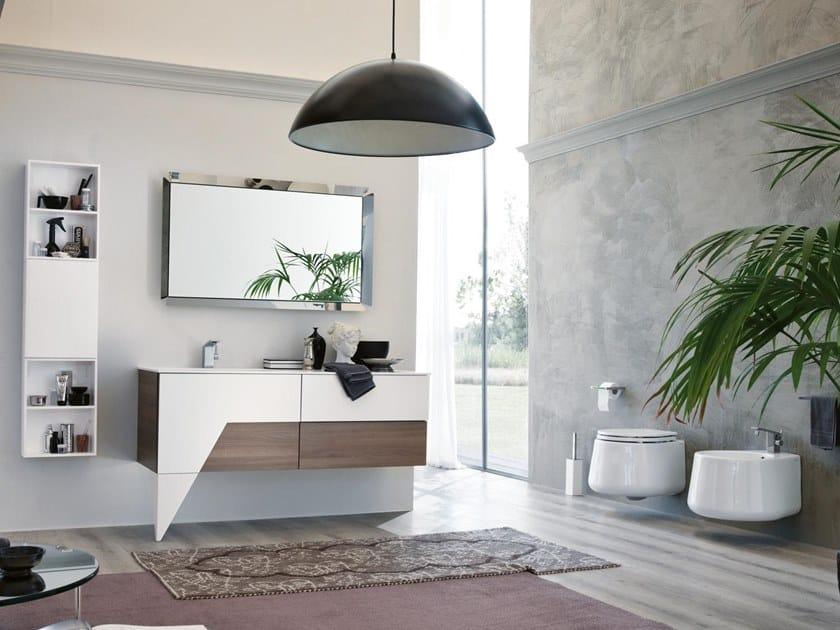 Mobile lavabo con specchio TEKNO 03 by BMT