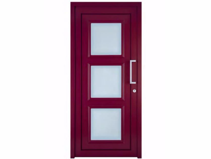 Exterior custom glazed PVC entry door TEKNO TE040 by FOSSATI PVC