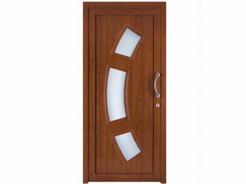 Exterior custom glazed PVC entry door TEKNO TE067 by FOSSATI PVC