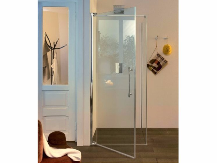 Glass shower cabin with hinged door TEKNOAIR - 1 by INDA®