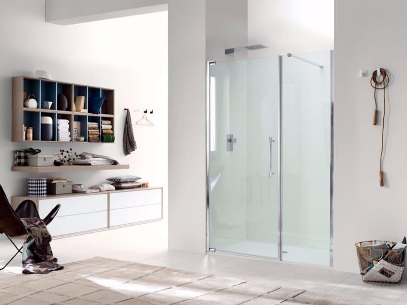 Box doccia a nicchia in vetro con porta a battente TEKNOAIR - 3 by INDA®