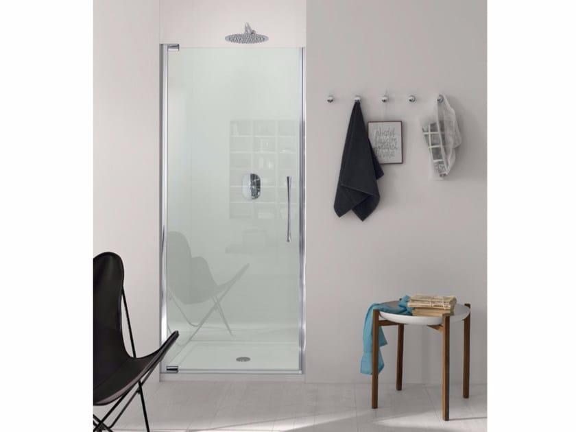 Box doccia a nicchia con porta a battente ed elemento fisso TEKNOAIR - 4 by INDA®