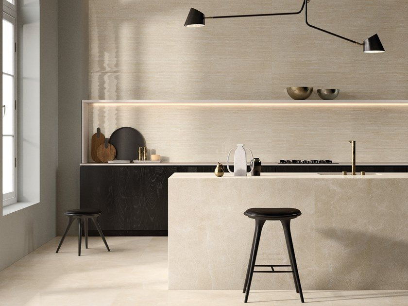 Porcelain stoneware wall/floor tiles TELE DI MARMO RELOADED MARFIL by EmilCeramica by Emilgroup