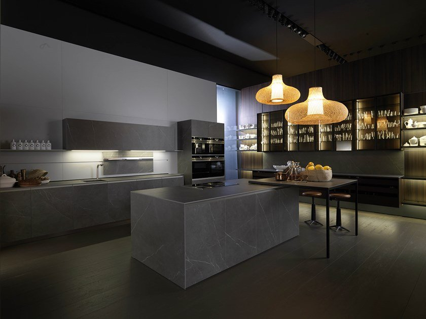Kitchen with island TELERO MULTI SYSTEM by Euromobil