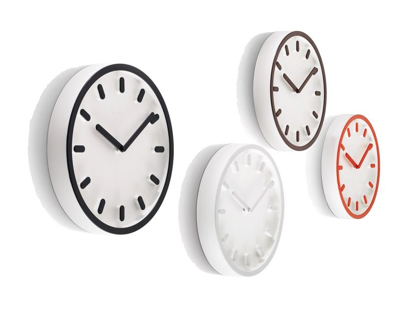 Wall-mounted ABS clock TEMPO by Magis