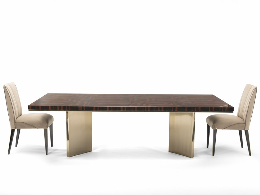 Lacquered rectangular wooden table TEMPTATION by Visionnaire