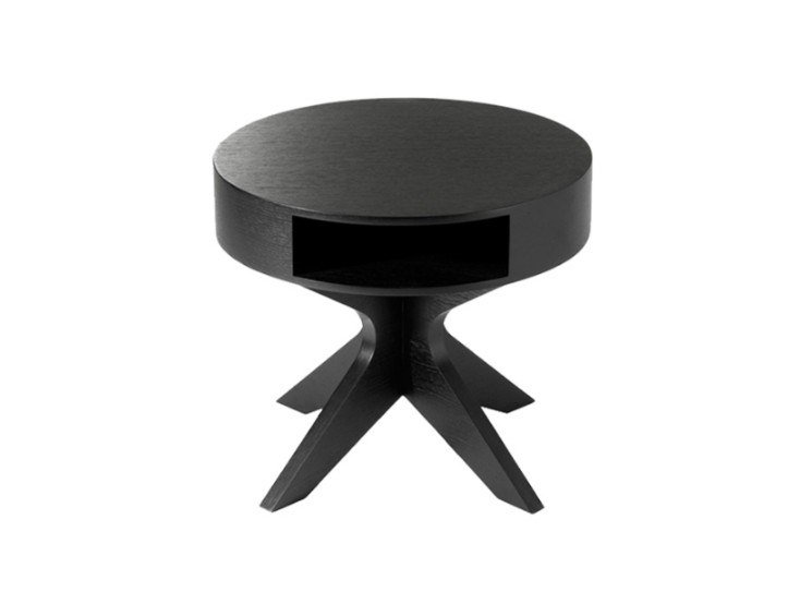 Round coffee table with storage space TEN by Conceito Casa