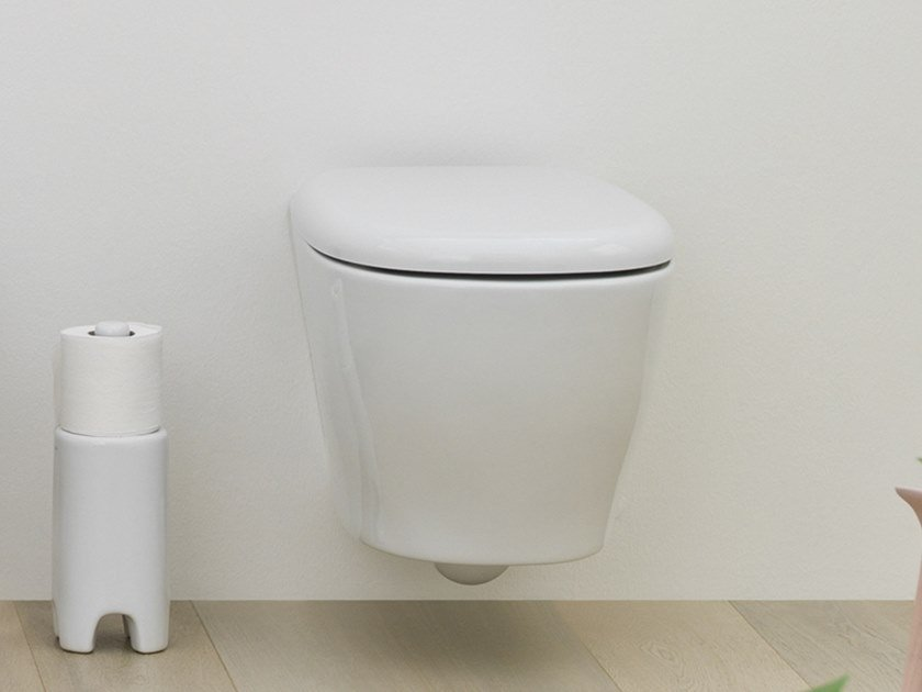 Wall-hung ceramic toilet TEN | Wall-hung toilet by Artceram