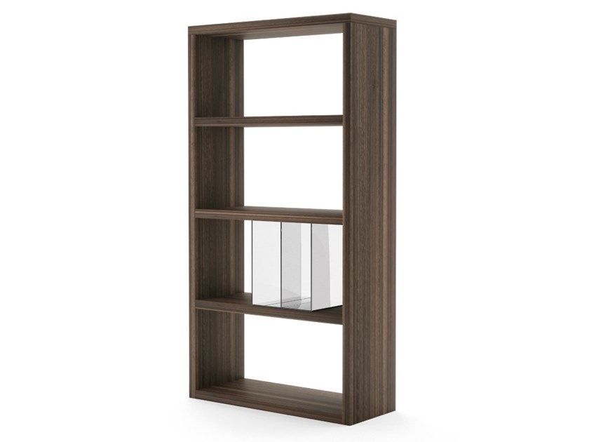 Open freestanding wooden shelving unit TENAFLY SMALL by PRADDY
