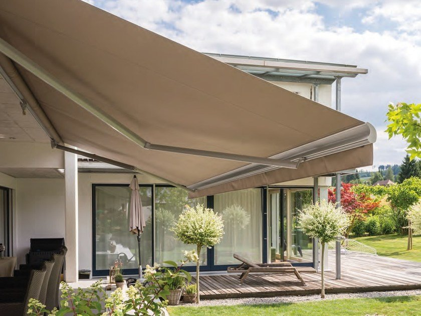 Folding arm awning SELECT / SELECT-OMBRAMATIC by STOBAG