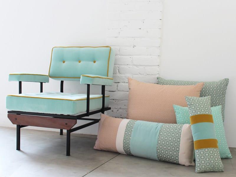 Jacquard fabric with graphic pattern TENDRE ESA by l'Opificio