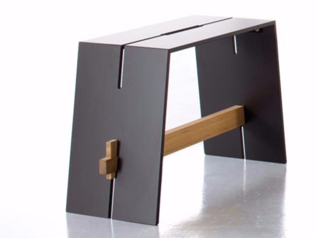 Tavolino basso rettangolare in HPL TENSION | Tavolino by conmoto