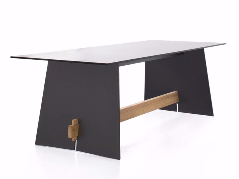 Rectangular HPL dining table TENSION | Table by conmoto