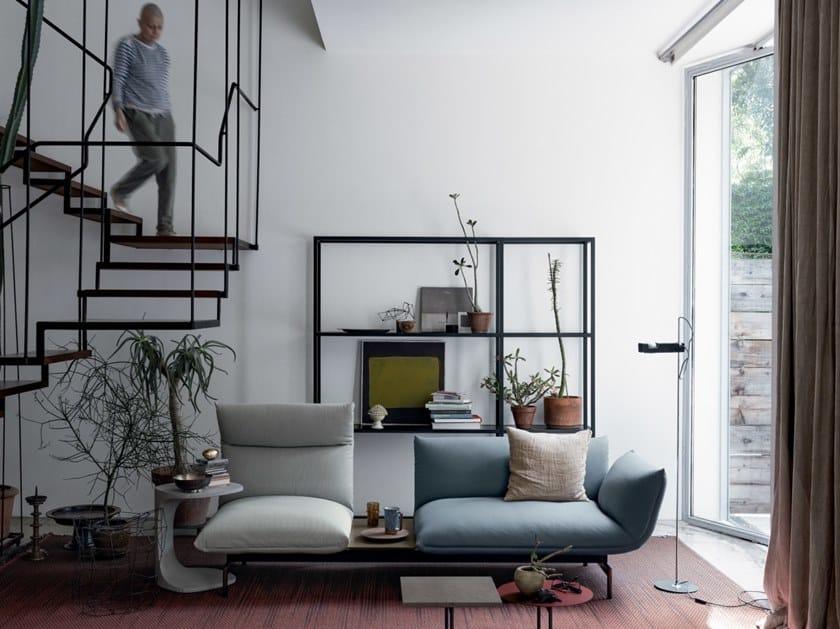 Sectional 3 seater fabric sofa TENSO | Sofa by Kristalia