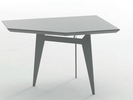 Low powder coated steel coffee table TEOREMA by Bolzan Letti