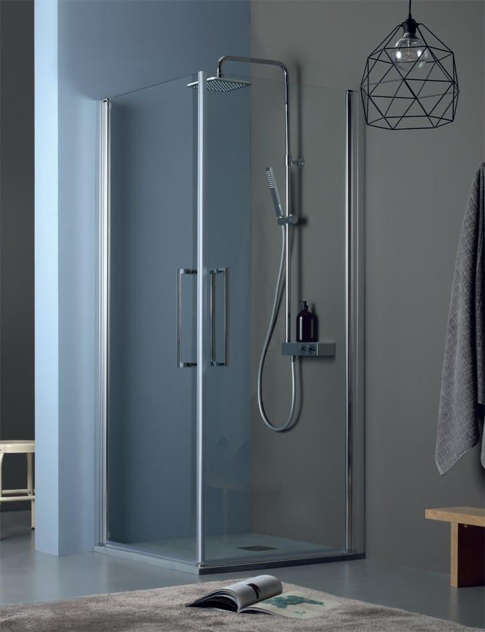 TEPB42 + TEPB42   Box doccia con porta a battente