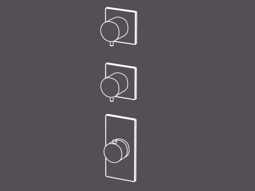 Miscelatore termostatico per doccia a 3 fori in acciaio inox con deviatore TER55-A by Radomonte