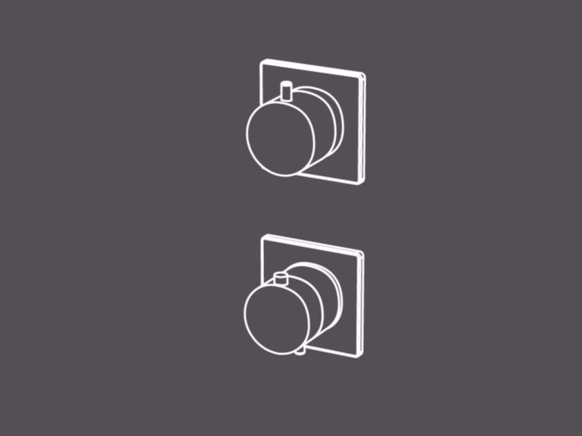 Miscelatore termostatico per doccia in acciaio inox con deviatore TER93-O by Radomonte