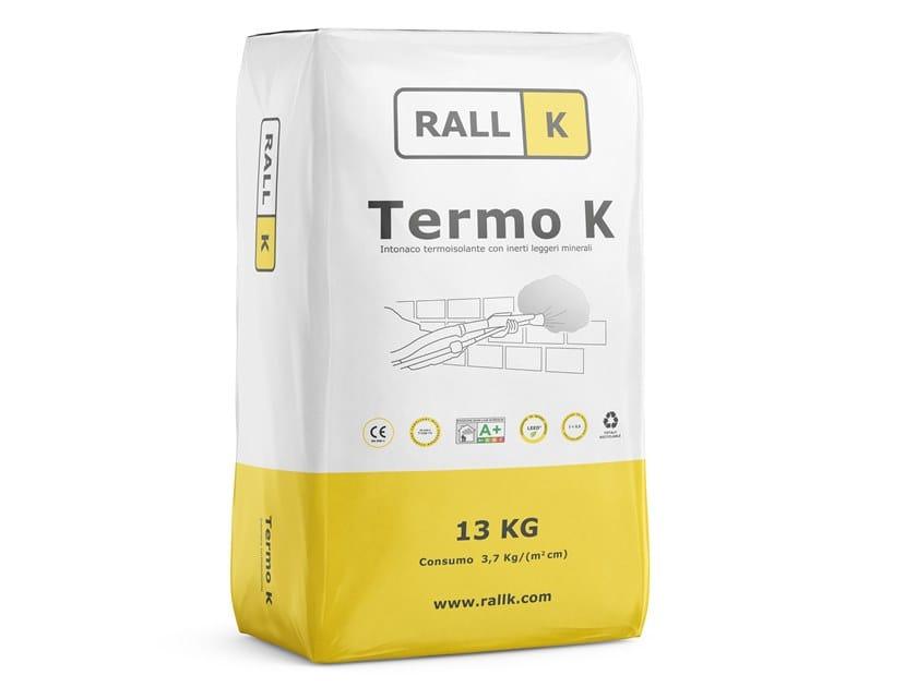 Intonaco termisolante a base calce idraulica naturale TERMO K by RALLK