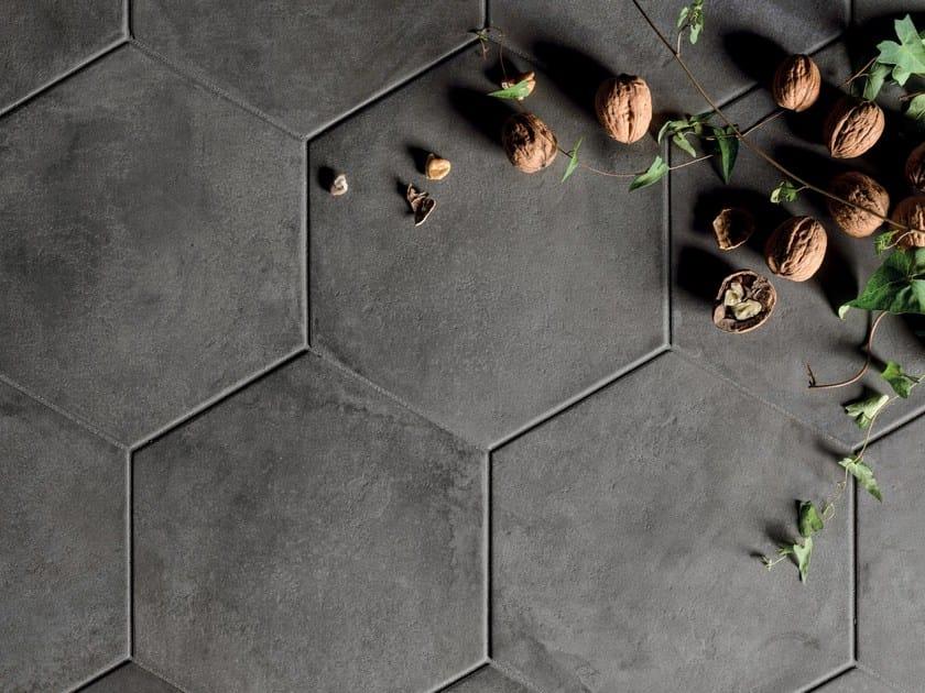 Full-body porcelain stoneware wall/floor tiles TERRA - NERO Terra