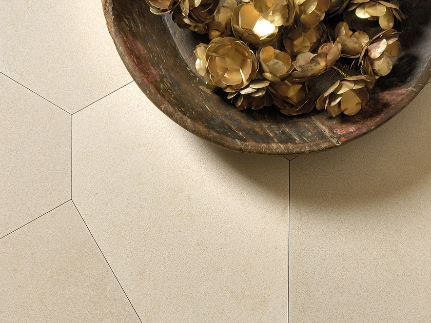 Natural stone wall/floor tiles TERRA POLIGONO6 BEIGE Trame di