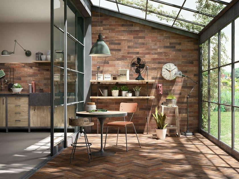 Porcelain stoneware wall/floor tiles with brick effect TERRAMIX by MARAZZI